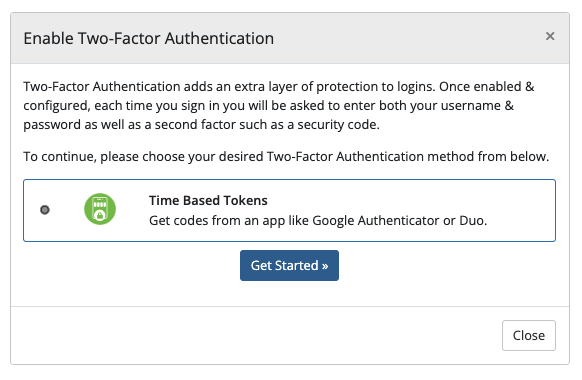 Two-Factor Authentication - WHMCS Documentation
