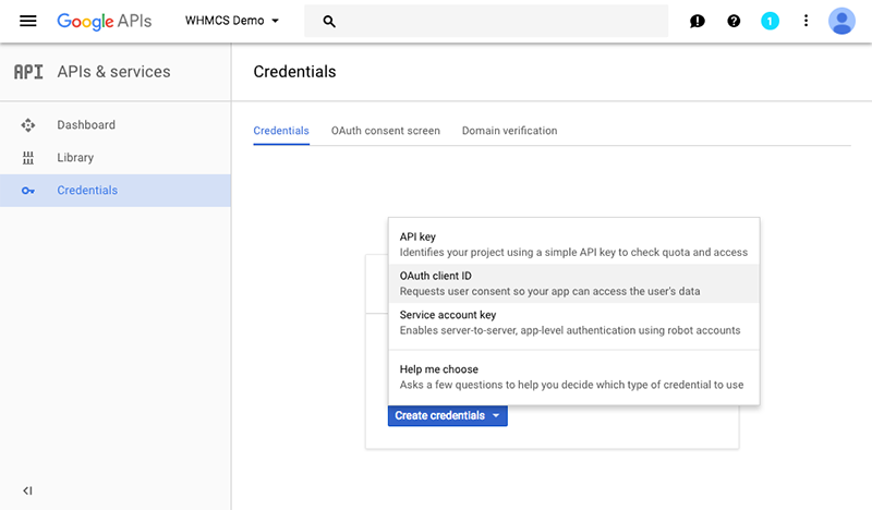 Configuring Sign-In using Google - WHMCS Documentation