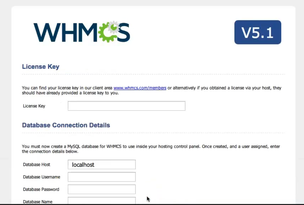 whmcs table with license key